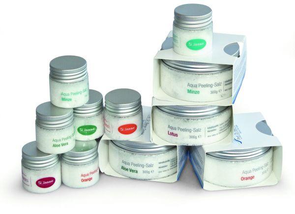 Aqua Peeling-Salz Saunasalz Peelingsalz 4 Düfte