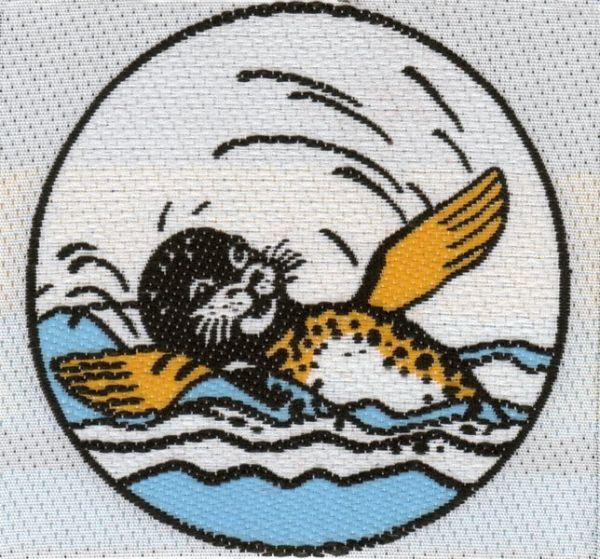 Seehund TRIXI Stoffabzeichen Vielseitigkeitsabzeichen