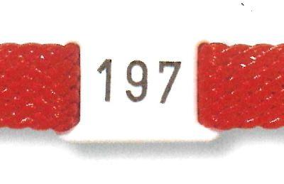 Kunststoff-Nummernplättchen für Band