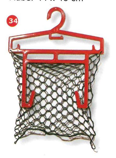 Garderobenbügel mit Schuhaken und Netz