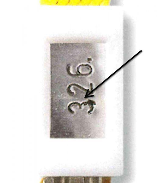 Alu-Nummernplättchen für Box