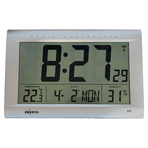 Funk Digitalwanduhr mit großem LCD-Display