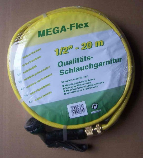 "Wasserschlauch-Set ""MEGA-Flex"" 1/2"" 20m"