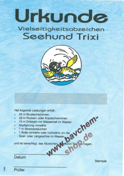 Seehund TRIXI Urkunde Vielseitigkeitsabzeichen