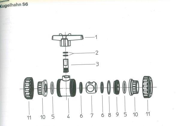 Überwurfmutter für Praher Kugelhahn S6 (100519)