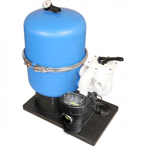 Filteranlage TREND Side Seitventil und Speck BaduTOP Filterpumpe