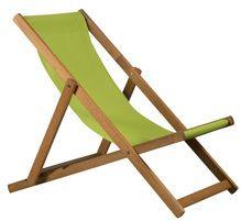 Liegestuhl DeckChair BRISTOL aus Holz mit Bespannung