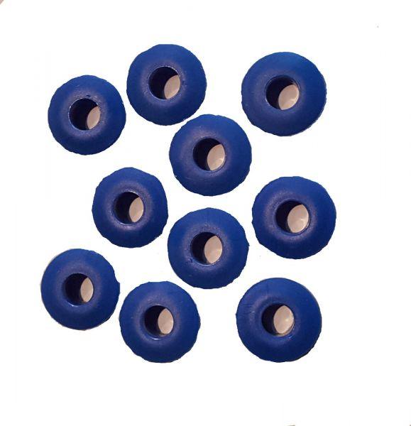 PVC Ösen für Solarnoppenfolie, blau (10Stck)